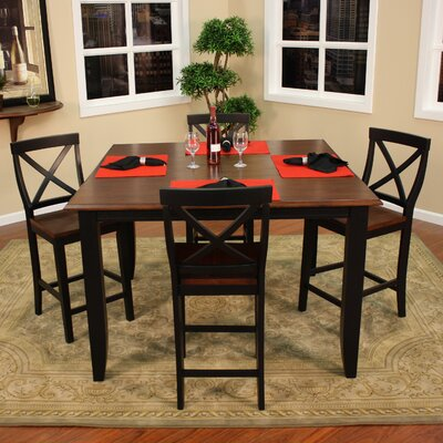 heritage rosetta 5 piece counter height dining set reviews wayfair