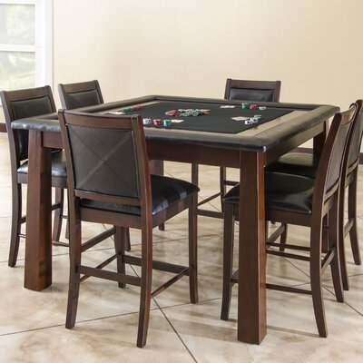American Heritage Archer Poker Table Set with 8 Devera Stools