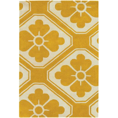Tufted Pile Yellow Obi Rug