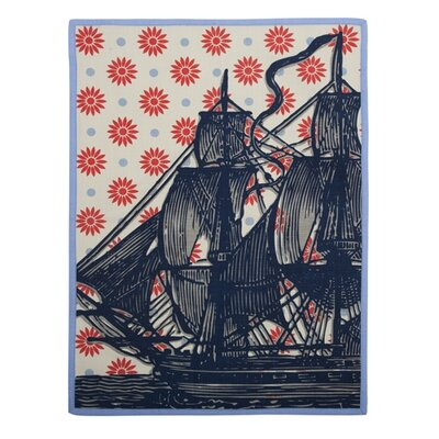 Vineyard Ship Tea Towel