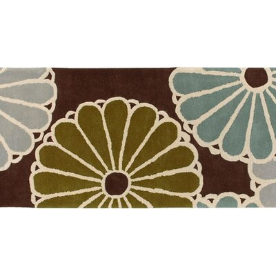 Thomas Paul Tufted Pile Choclate/Aqua Parasols Rug