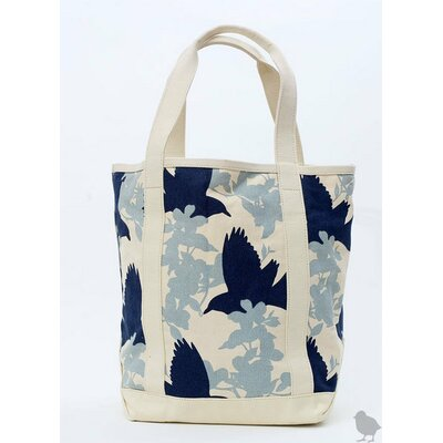 Thomas Paul Large Crows Tote in Grey/Navy