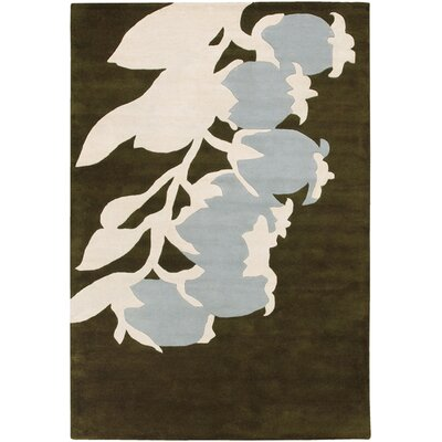 Tufted Pile Green/Dove Buds Rug