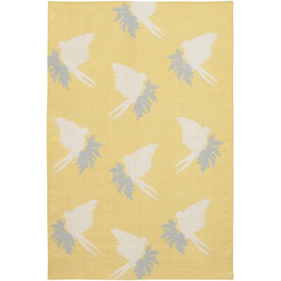 Flat-weave Dhurrie Corn/Cream Swallows Rug