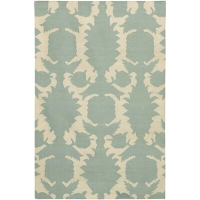 Thomas Paul Flat-weave Dhurrie Dove/Cream Flock Rug