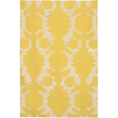 Thomas Paul Flat-weave Dhurrie Corn/Cream Flock Rug