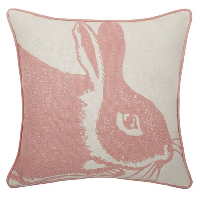 Thomas Paul Bunny Linen Pillow in Rose