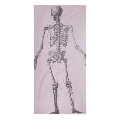 Thomas Paul Skeleton Cotton Voile Scarf in Lavender