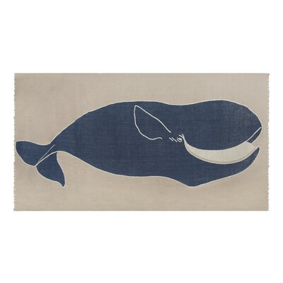 Thomas Paul Baleen Linen Scarf in Indigo