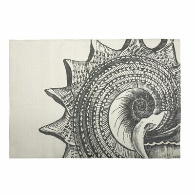 Thomas Paul Bath Shell Mat in Charcoal