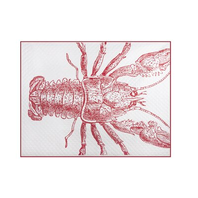 Lobster Quilted Cotton Throw