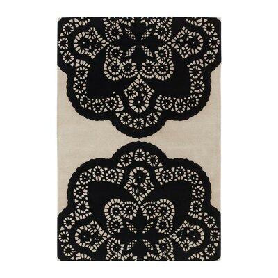 Thomas Paul Tufted Pile Ebony/Cream Doily Rug