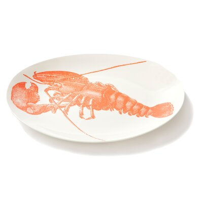 Thomas Paul Sealife Lobster Oval Serving Tray