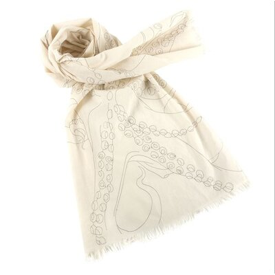 Thomas Paul Octopus Embroidered Scarf