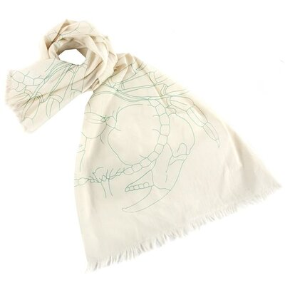 Thomas Paul Crab Embroidered Scarf