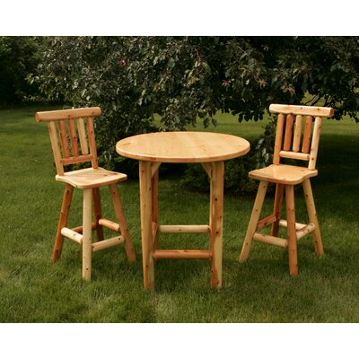 Moon Valley Rustic 3 Piece Bar Height Bistro Set