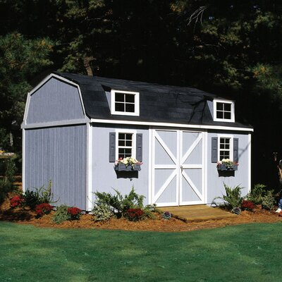 Handy Home Premier Series 8' W x 10' D Berkley Wood Storage Shed