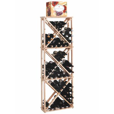 Wine Cellar Innovations Designer Series 132 Bottle Open Diamond Cube Wine Rack