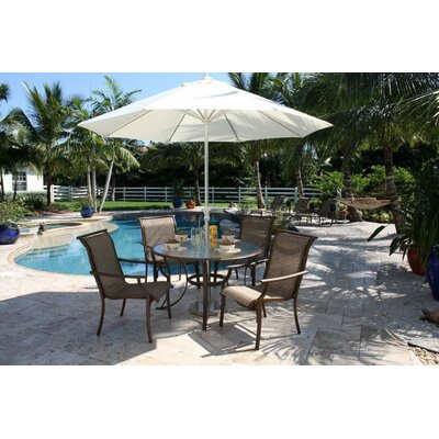 Hospitality Rattan Chub Cay Patio 5 Piece Dining Set