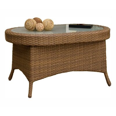 Hospitality rattan grenada patio coffee table reviews for Wayfair outdoor coffee table