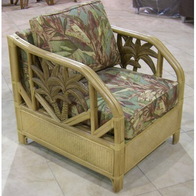 Hospitality Rattan Cancun Palm Lounge Chair with Cushion