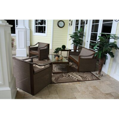 Hospitality Rattan Venetian 5 Piece Deep Seating Group