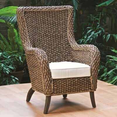 Hospitality Rattan Cozmel Full Frame Lounge Chair with Cushion