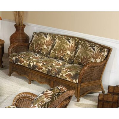 Hospitality Rattan Turks Bay Rattan Sofa with Cushions