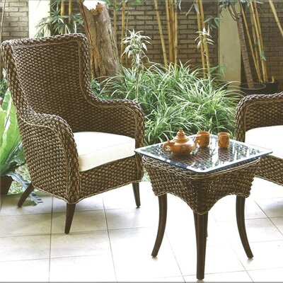 Hospitality Rattan Cozmel Lounge Am Chair and Table Set Cushions