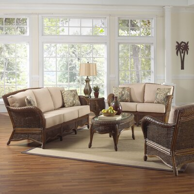 Hospitality Rattan Turks Bay 5 Piece Living Room Set