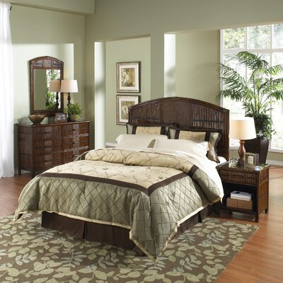 Tropical Bedroom Furniture Sets Polynesian 4 Piece Headboard Bedroom Collection The Polynesian Bedroom