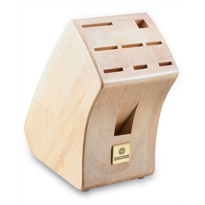 Mundial Solid Wood Block  with 9 Slots in White Wash