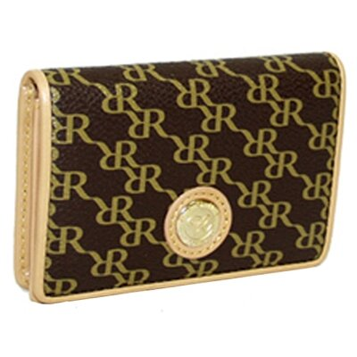 Rioni Aristo Business Card Holder in Brown
