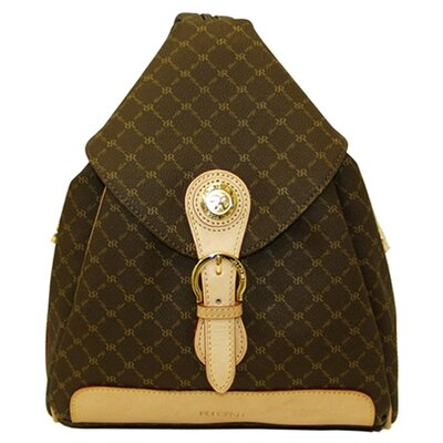 Signature Zipper Strap Backpack in Brown