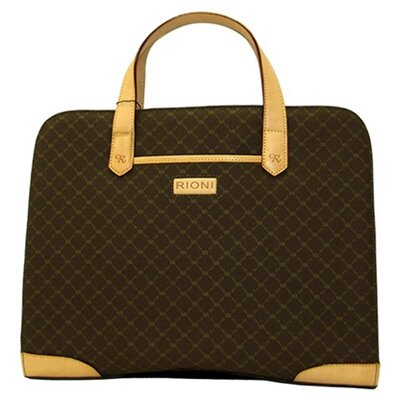 Rioni Signature Carry On Briefcase in Brown