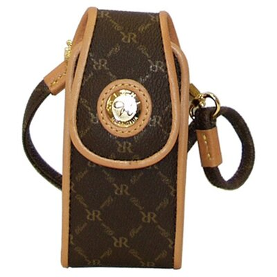 Rioni Signature Small Phone Carrier in Brown