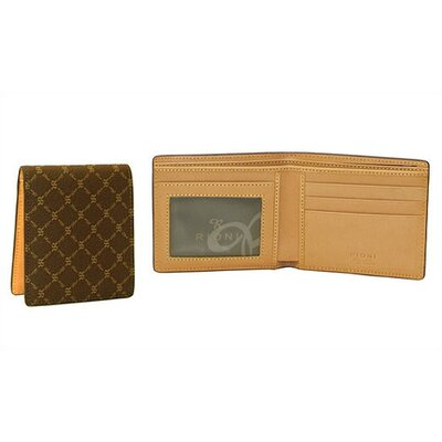Signature Men's Wallet with Coin Section in Brown