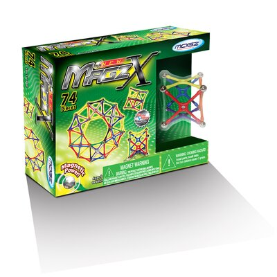 Mindscope 74 Pieces Magz-X Educational Magnetic Building Set