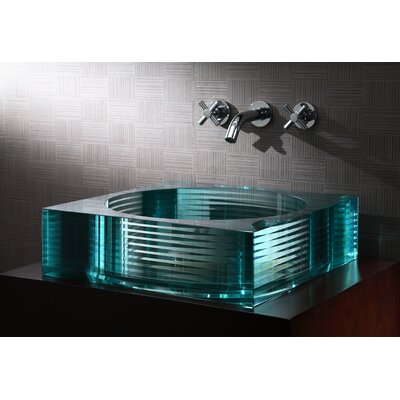 Ryvyr Segment Square Glass Vessel Bathroom Sink
