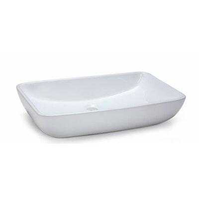 Ryvyr Rectangular Vitreous China Vessel Bathroom Sink