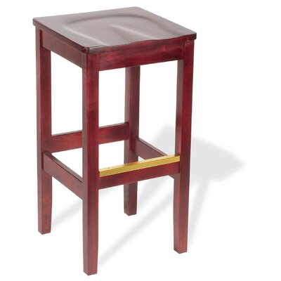 "Holsag Bulldog Mahogany Backless Bar Stool (24"" - 30"" Seats)"
