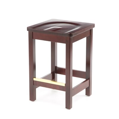 Bulldog Mahogany Backless Bar Stool (24