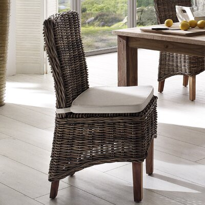 Infinita Corporation Wickerworks Morin Dining Side Chair with Cushion