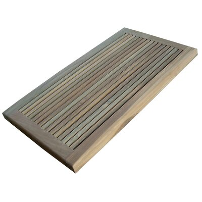 Infinita Corporation Greenface Teak Doormat in Natural