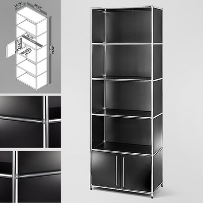 Infinita Corporation System4 Simpli 5 Compartment Bookcase