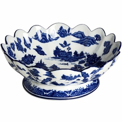 Hill Interiors Oriental Qing Hua 29.5cm Fruit Bowl