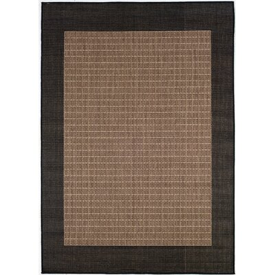 Recife Checkered Field Black Cocoa Rug