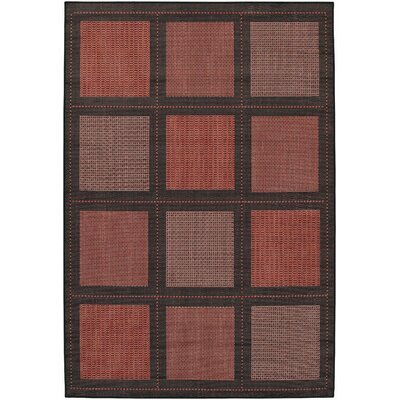 Recife Summit Terra Cotta/Black Indoor/Outdoor Rug
