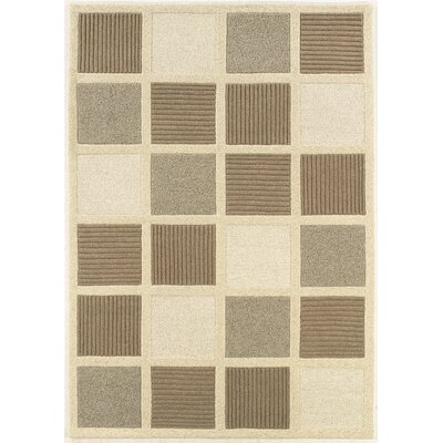 Couristan Super Indo-Natural Textured Squares Rug
