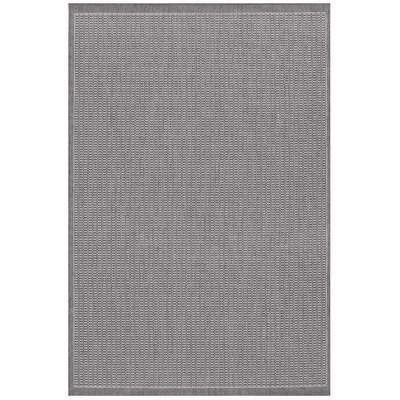 Recife Saddle Stitch Grey/White Rug
